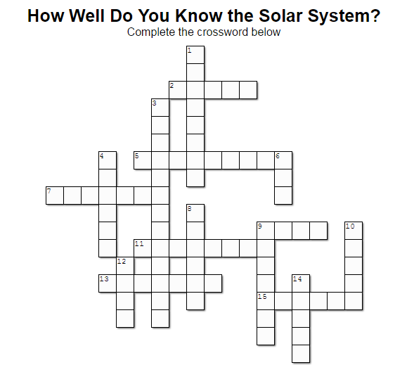 Crossword Solar System