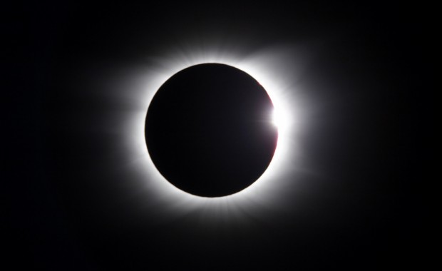 Solar Eclipse - diamond ring