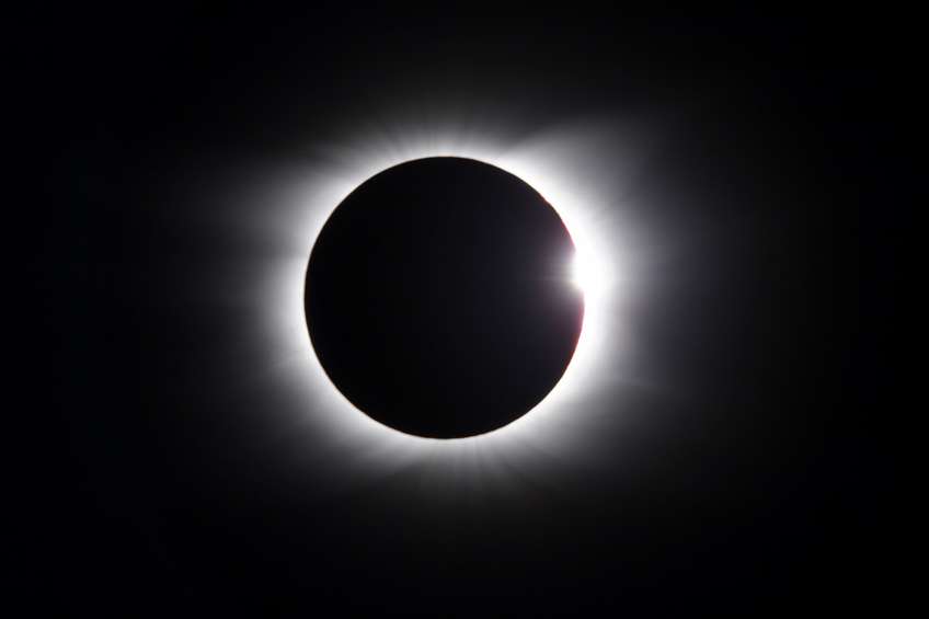 Solar Eclipse - diamond ring