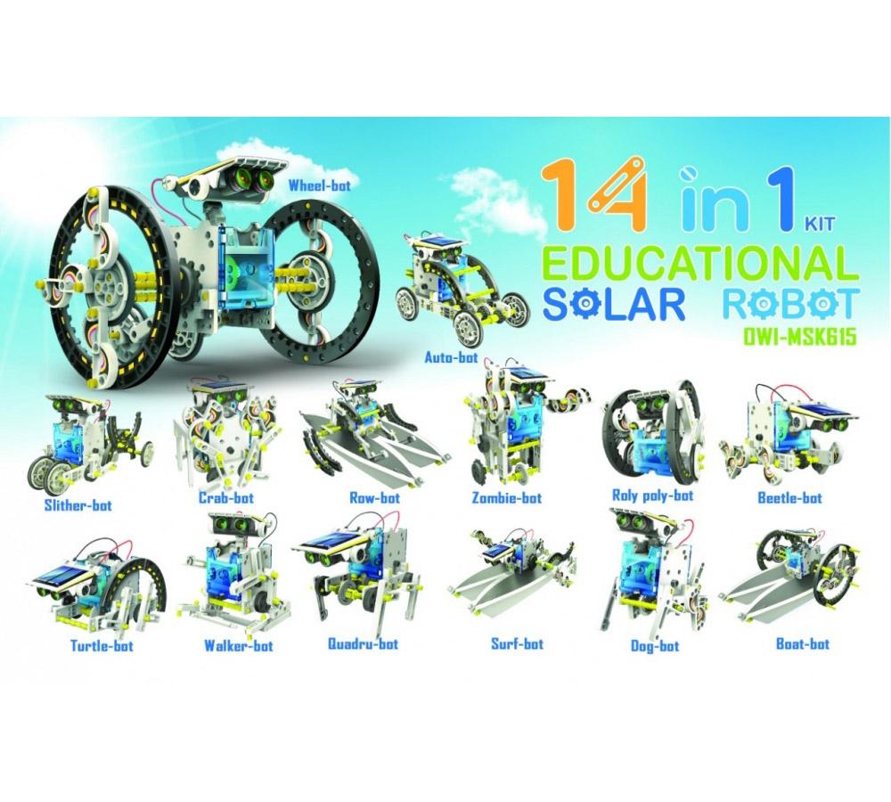14-in-1 solar robot
